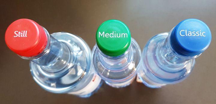 Mineralwasser im Vergleich - stilles, medium und classic Mineralwasser