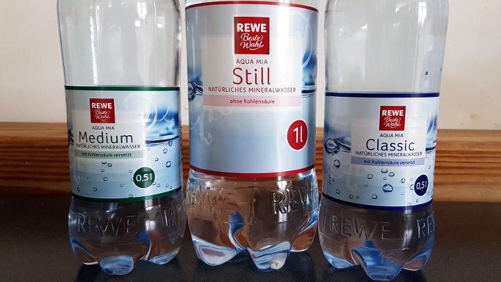 REWE Mineralwasser - Beste Wahl & Ja! - still, medium oder classic